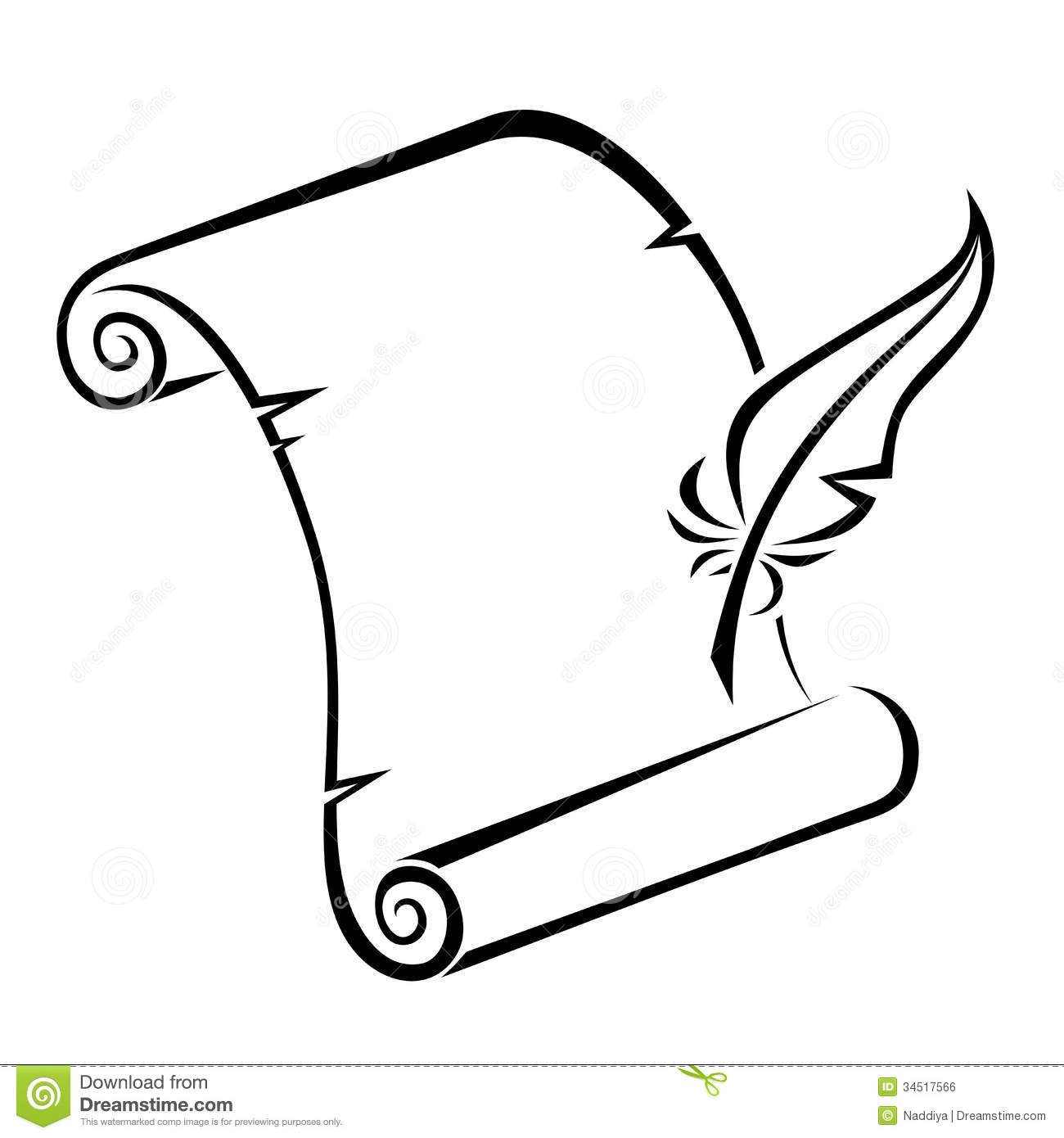 1300x1390 Scroll Clipart Black And White