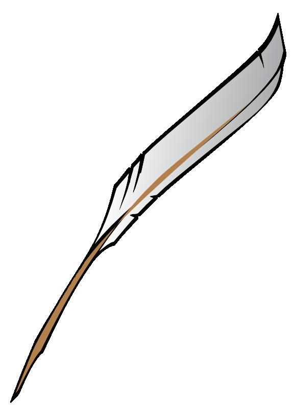 574x800 Clipart Feather Pen