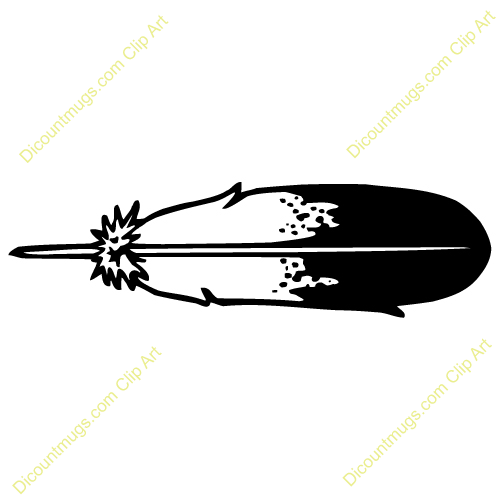 500x500 Feather Outline Clipart