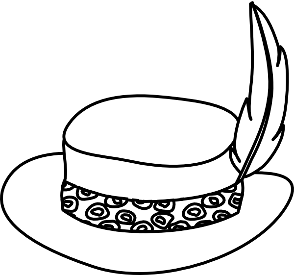 600x561 Hat Outline Clip Art