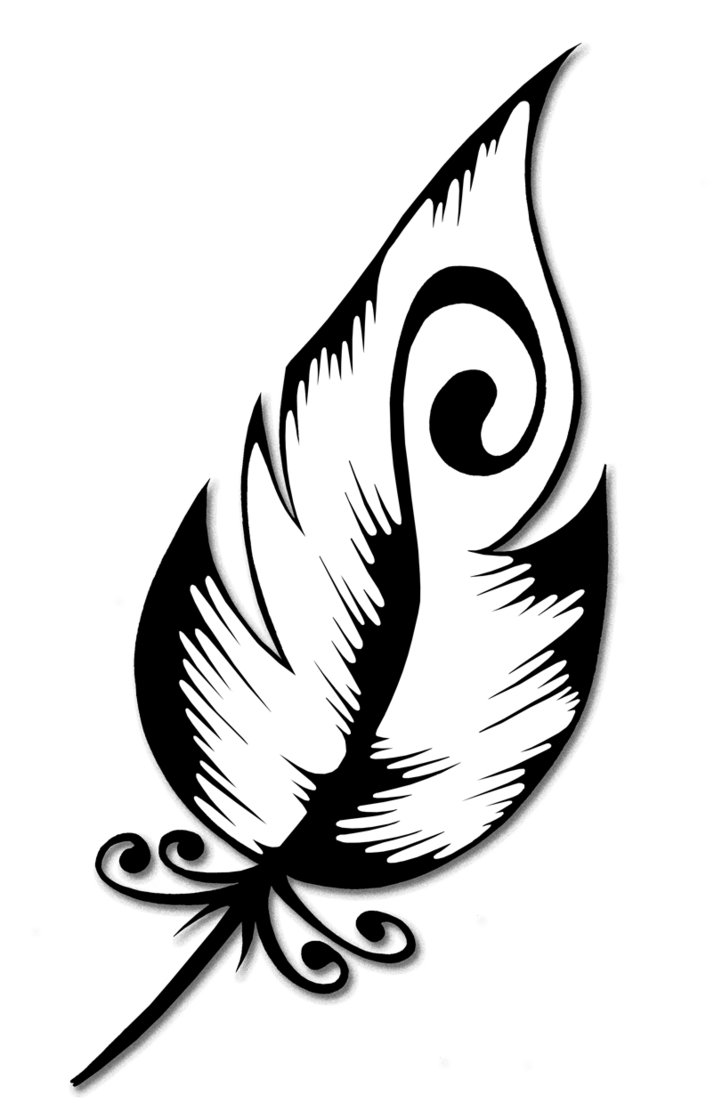 714x1119 Would Want The Feather Longer I, Also, Like The Swirl Idea Within