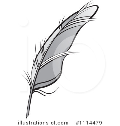 400x420 Writing Feather Clipart