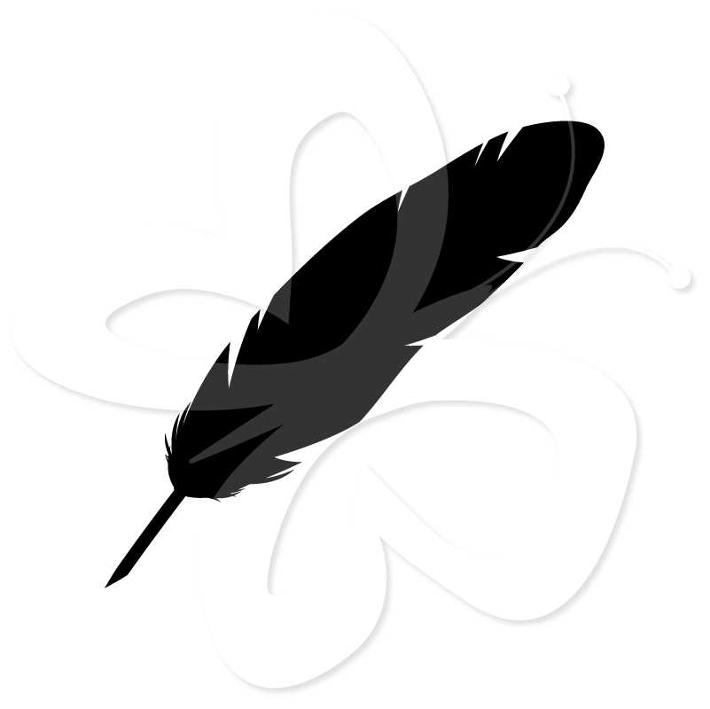 801x800 Feather Silhouette Clipart