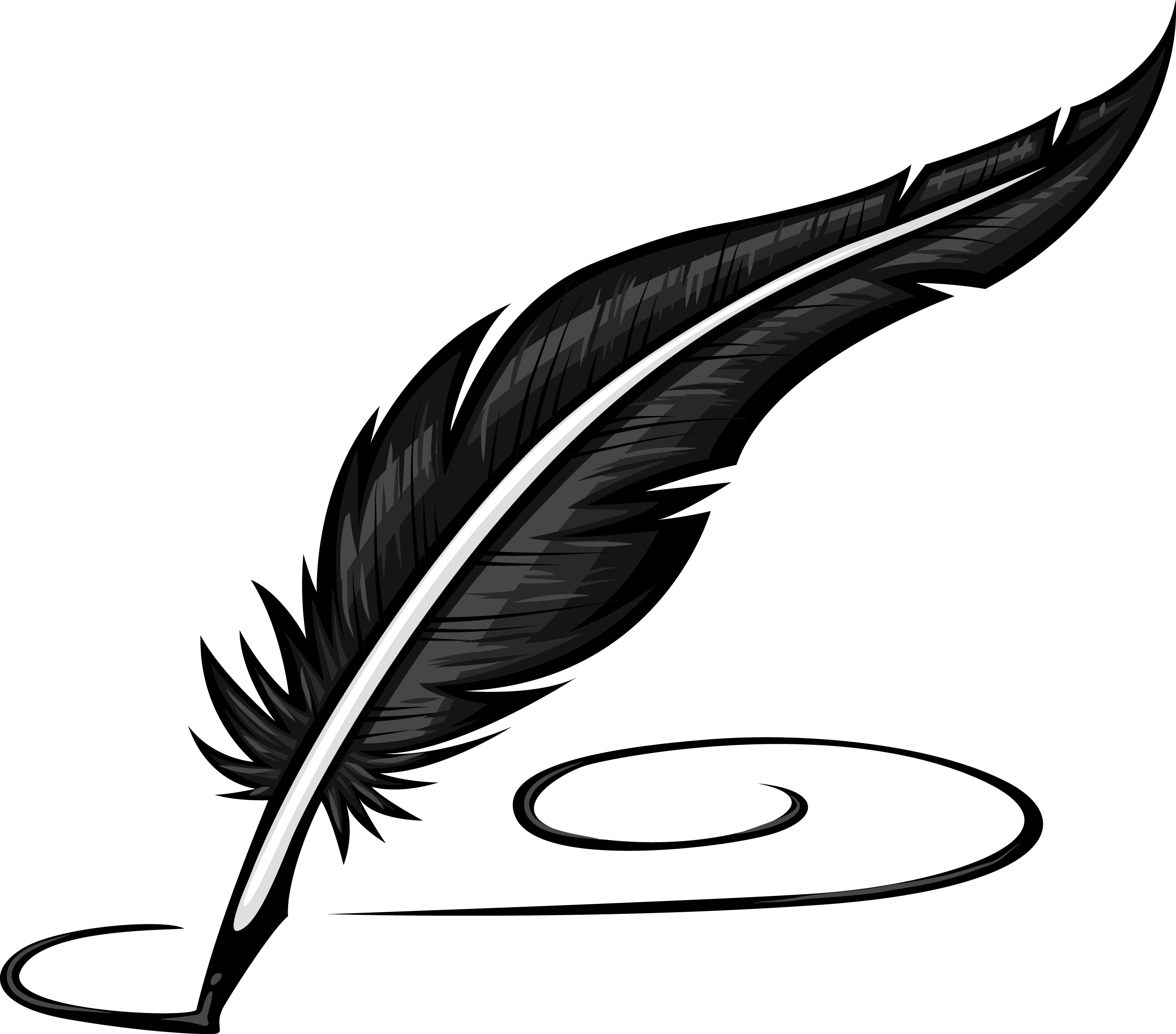 2800x2463 Feather pen clipart