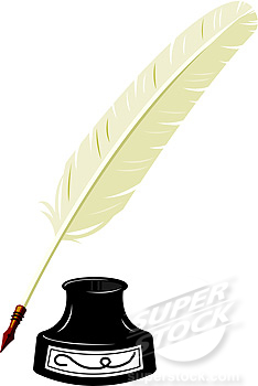 234x350 Feather Pen Clipart