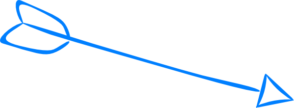 600x220 Arrow Clipart Feather Clip Art
