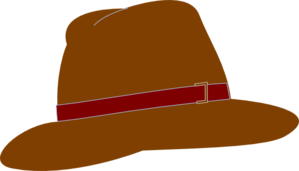 299x171 Brown Fedora Hat Clip Art