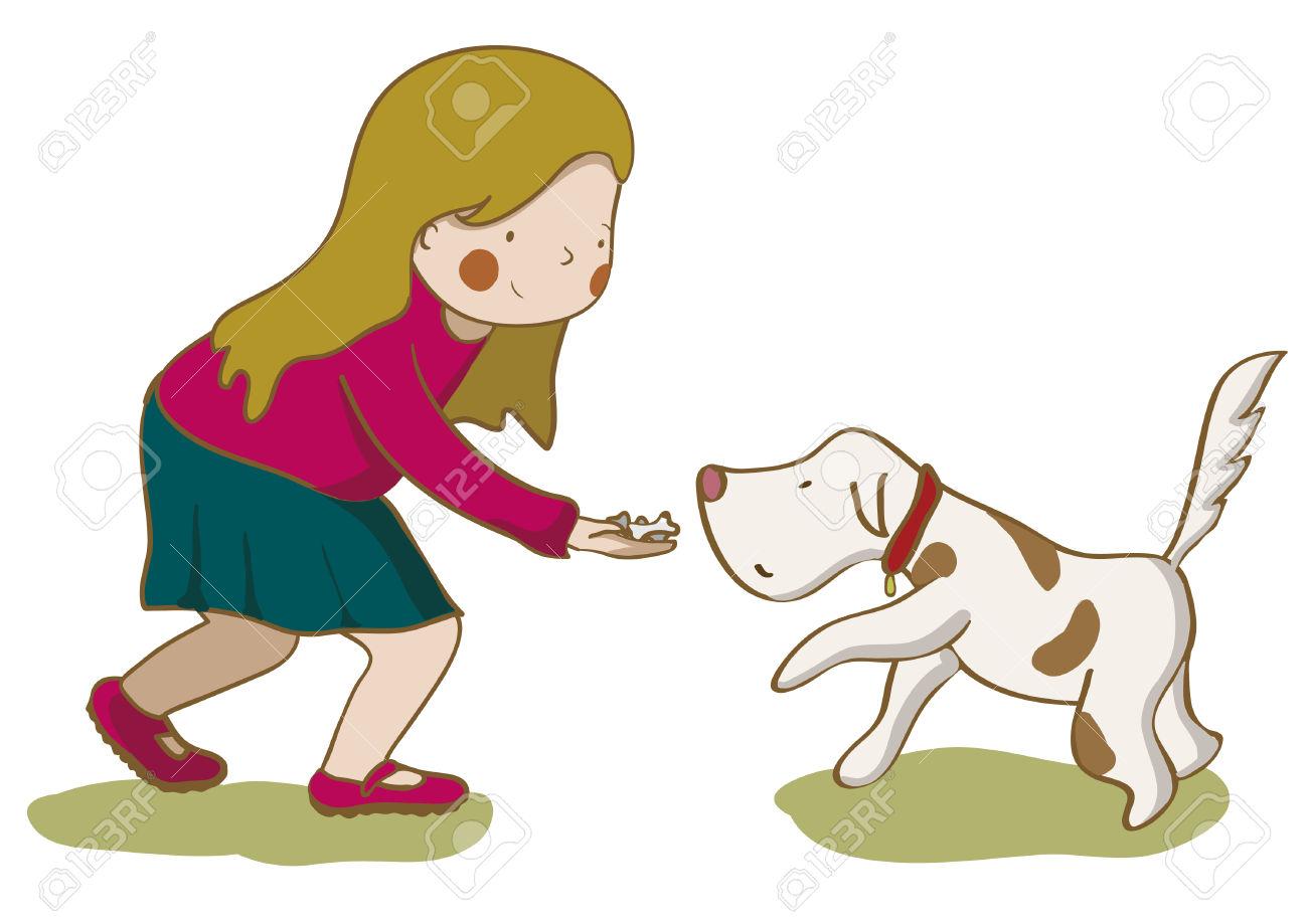 1300x919 Pets Clipart Child Feeding