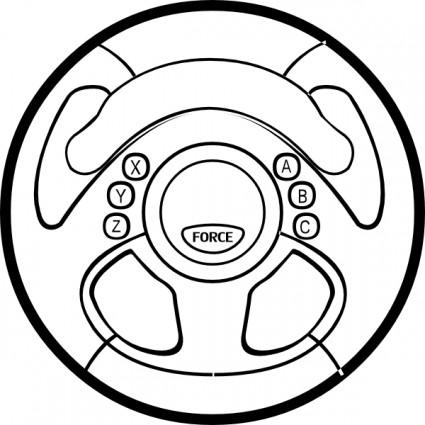 425x425 Car Wheel Force Feedback Wheel Clip Art Free Vector In Open Office