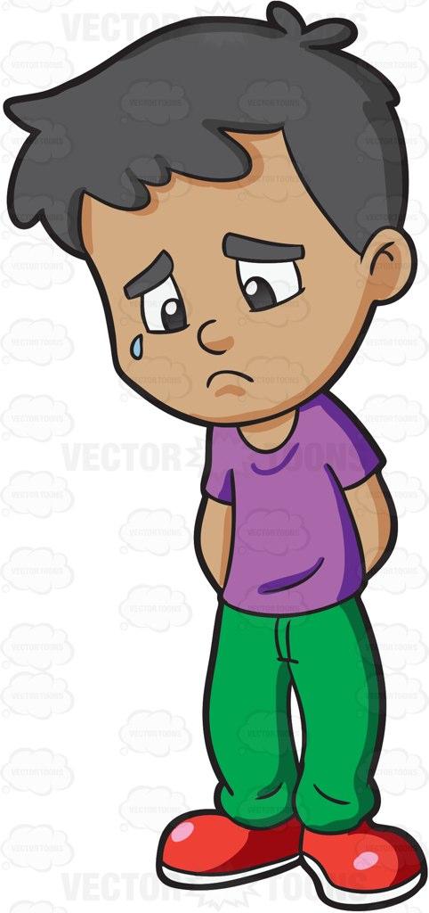 482x1024 Sad Boy Clipart