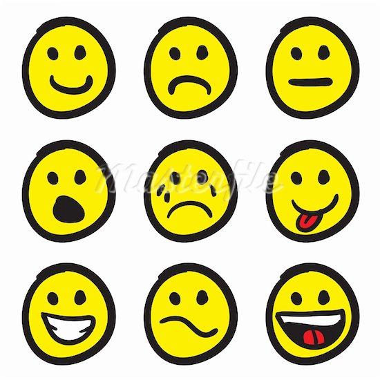 550x550 Emotion Faces Clip Art