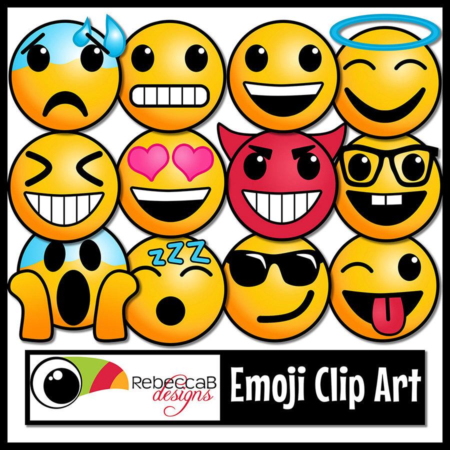 900x900 65 Emoji Clip Art Emoji Faces, Smiley Faces, Emotion Clip Art