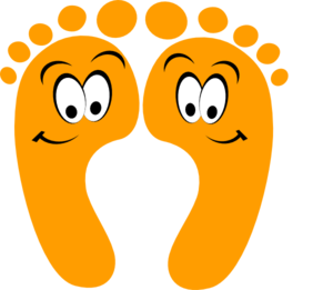 300x261 Orange Happy Feet Clip Art