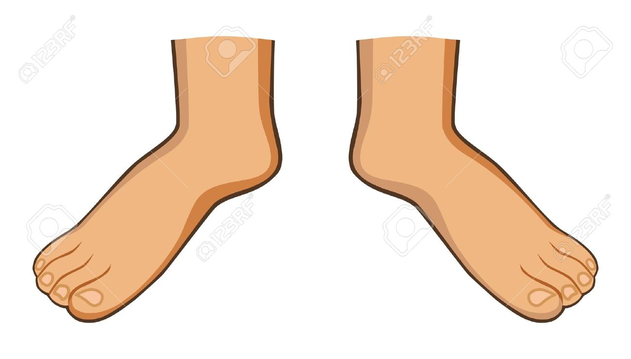 1300x739 Cartoon Foot Clipart Image