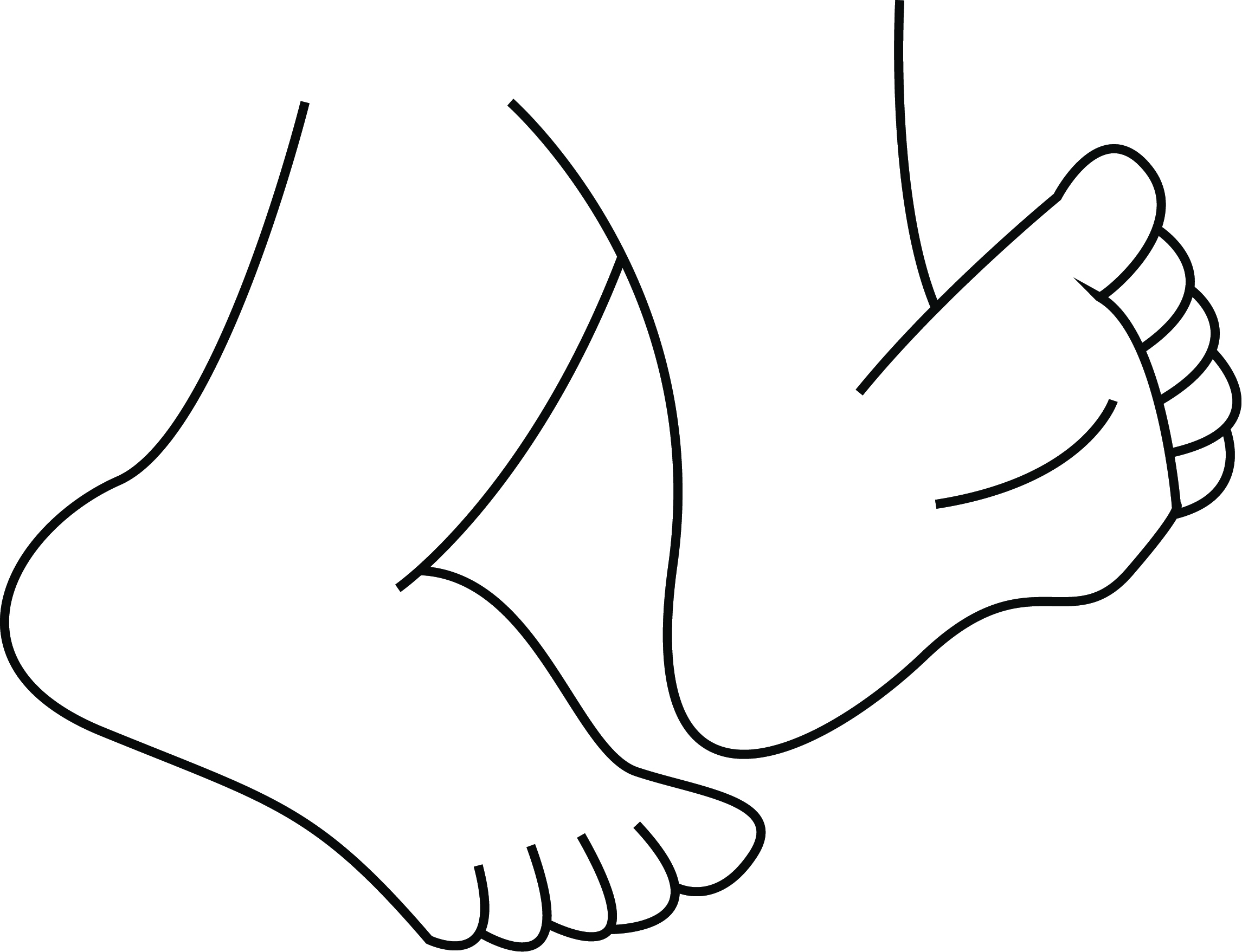 2291x1757 Cartoon Walking Feet Clipart 2 Clip Art Library