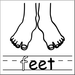 304x304 Clip Art Basic Words Eet Phonics Feet Bampw I