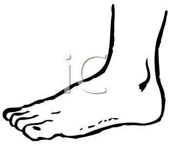 350x298 Feet Clipart Foot Black And White
