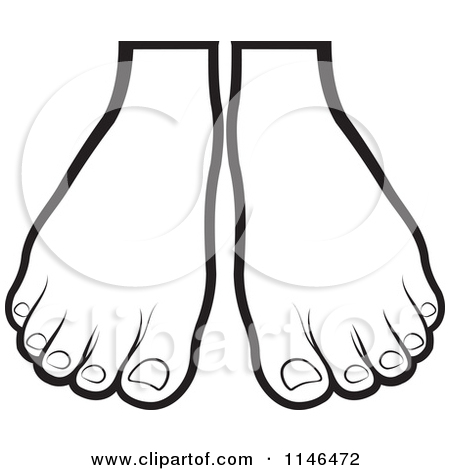 450x470 Big Foot Clipart Pair Feet