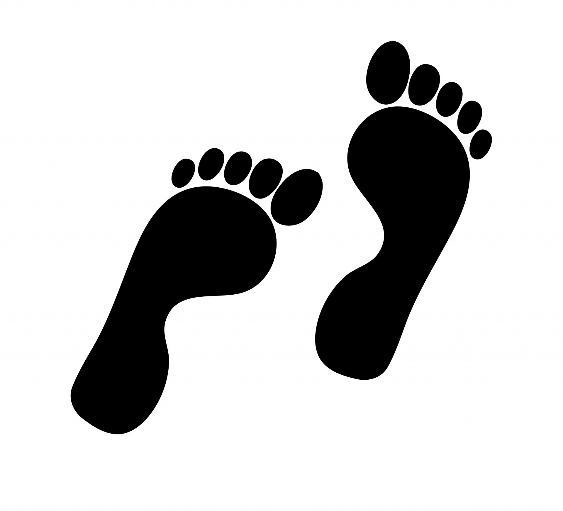 1920x1743 Black And White Baby Feet Clipart