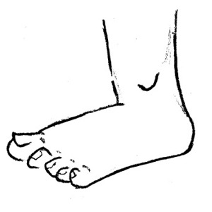 300x300 Cartoon Foot Clipart Kid 5