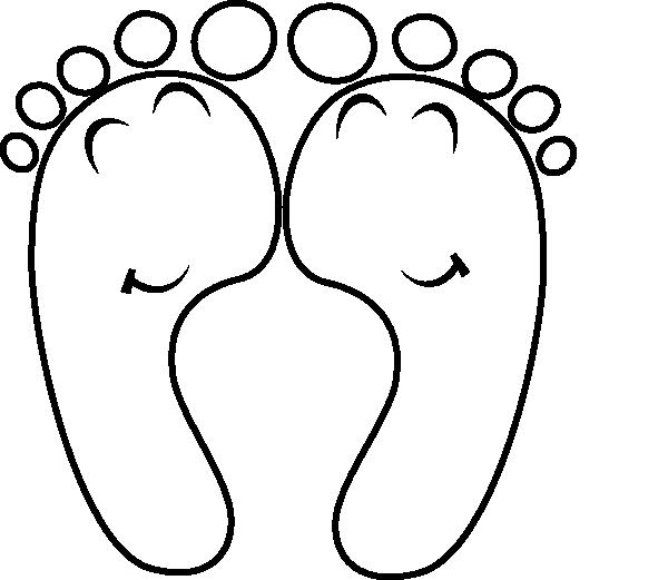 600x521 Happy Feet Outline Clip Art