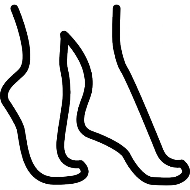 626x626 Tiptoe Feet Outline Icons Free Download
