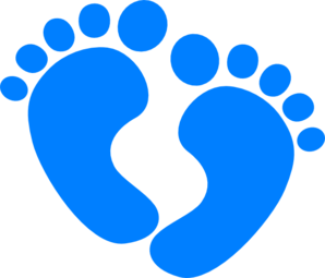 298x255 Clipart Of Baby Feet