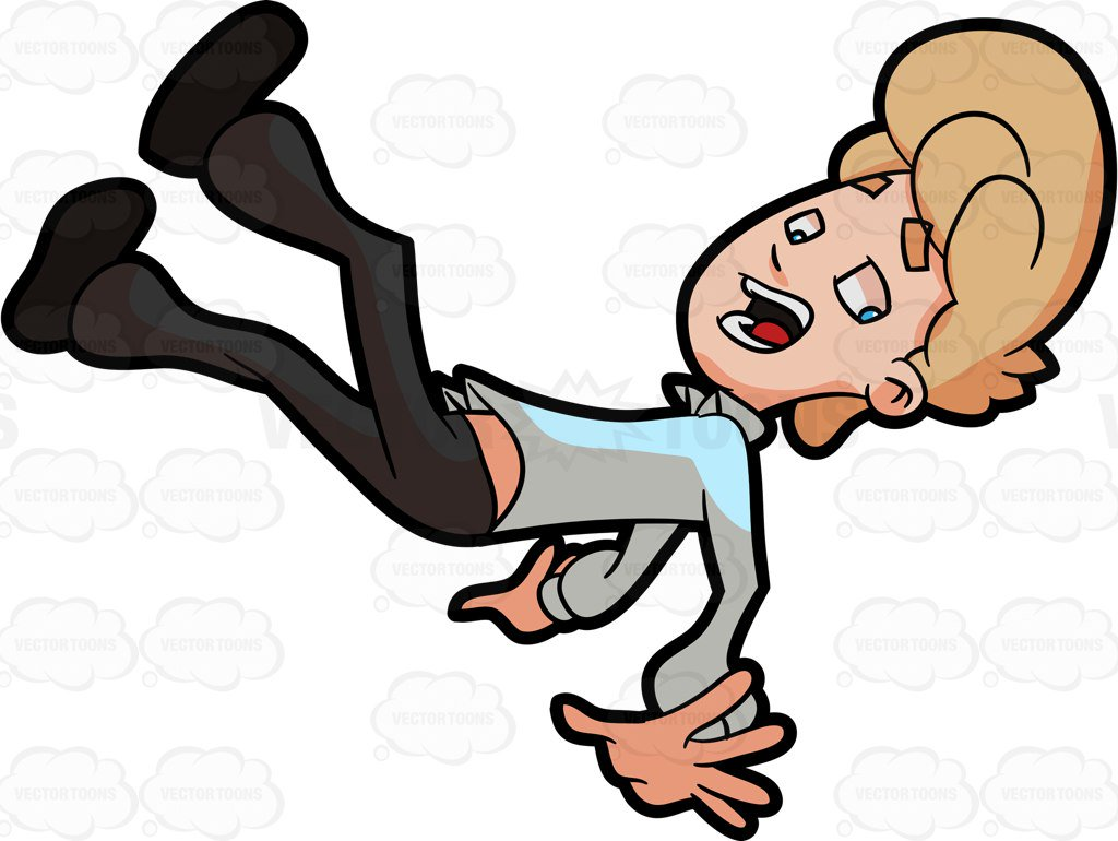 1024x770 A Man Slipping And Landing On His Buttocks Cartoon Clipart