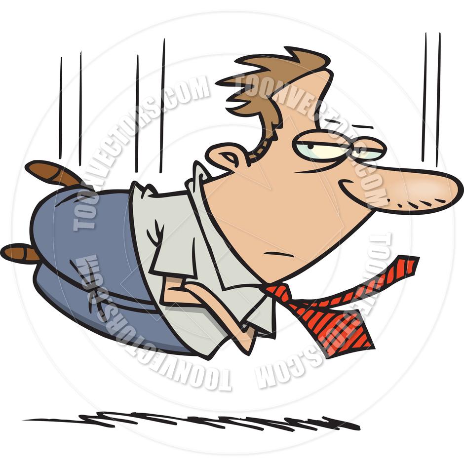 940x940 Cartoon Businessman Hard Landing By Ron Leishman Toon Vectors