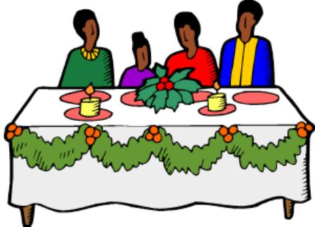 448x323 Christmas Dinner Clipart
