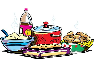 375x238 Church Meal Clipart
