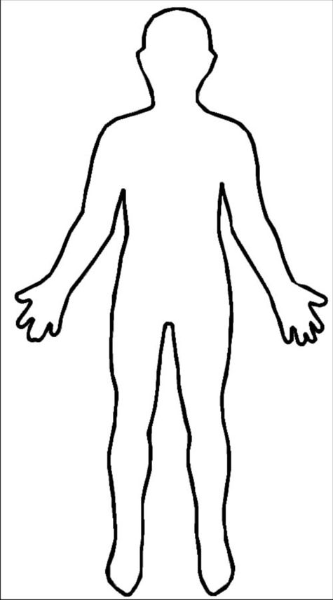 475x856 Free Clipart Girl Body Outline