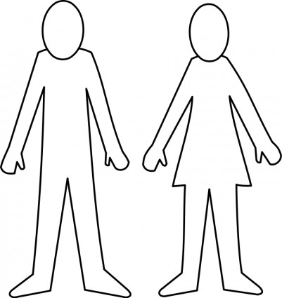 401x425 Body Outline Clipart
