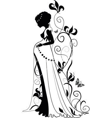 Female Body Silhouette Clipart