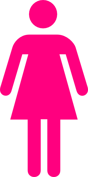 300x600 Female Clip Art Pink Female Clip Art