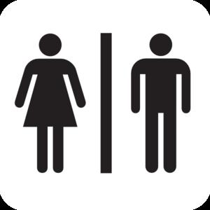 300x300 Male Female Bathroom Wo Boarder Clip Art