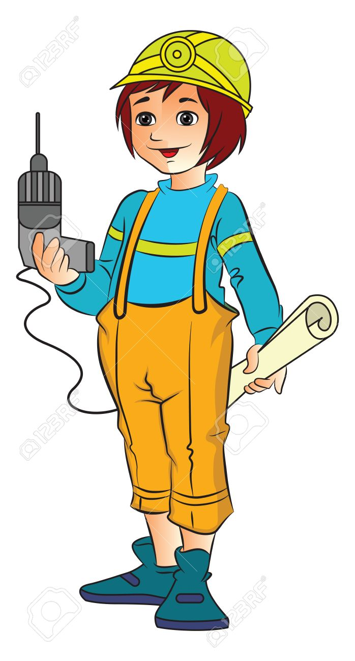 698x1300 Engineer Clipart