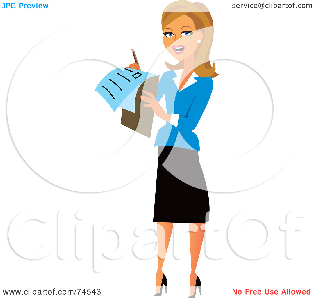 1080x1024 Female Manager Clipart