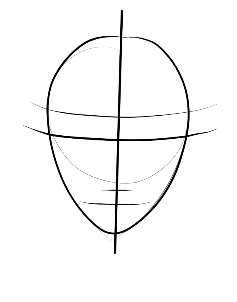 804x1024 Face Outline Drawing