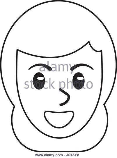 402x540 Face Profile Outline Stock Photos Amp Face Profile Outline Stock