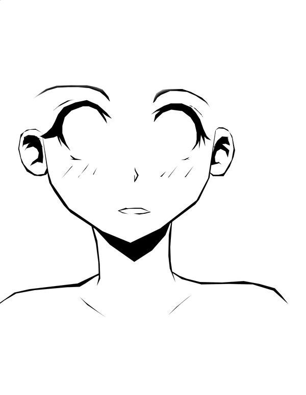 600x776 Female Face Outline