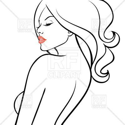400x400 Free Clipart Women Outline