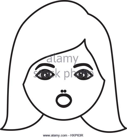 498x540 Lady Face Outline Stock Photos Amp Lady Face Outline Stock Images