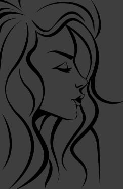 243x371 Woman's Face Outline Sticker