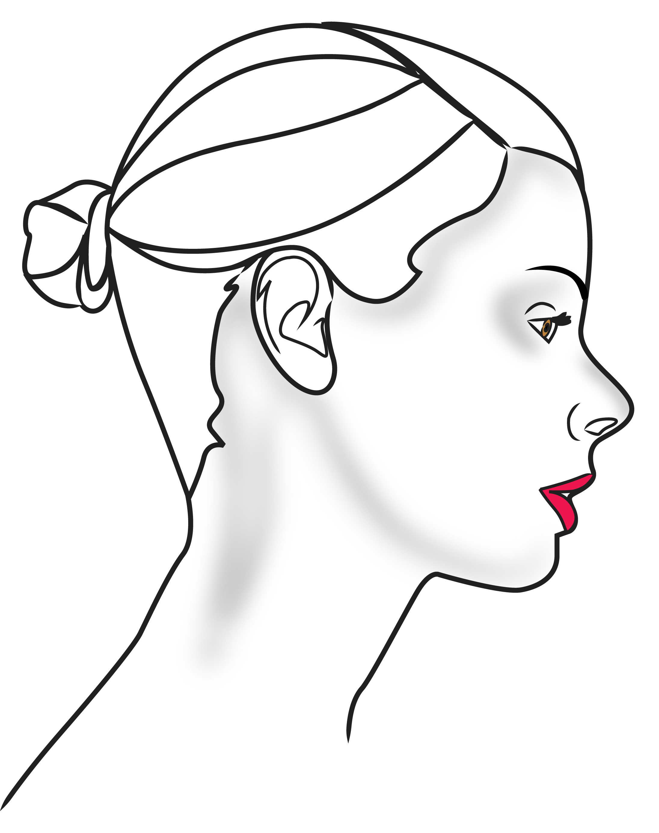 2192x2772 Drawing Face Profile Outline Face Drawing Outline Female Face