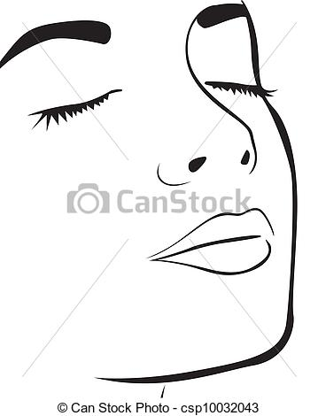 359x470 Eps Vector Of The Womans Face