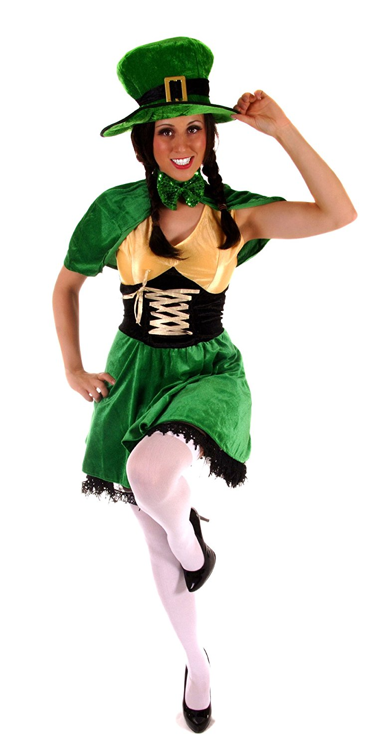 786x1500 Ladies Fancy Dress Costume Leprechaun G11128 Irish St Patricks Day
