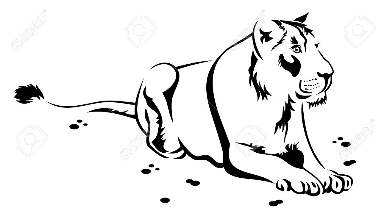 1300x736 Lioness Clipart Black And White