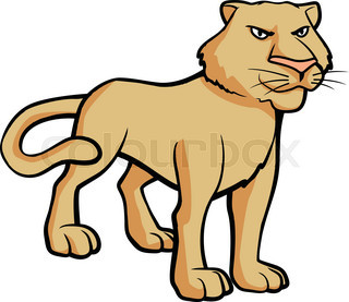 320x277 Stunned Lioness Stock Vector Colourbox