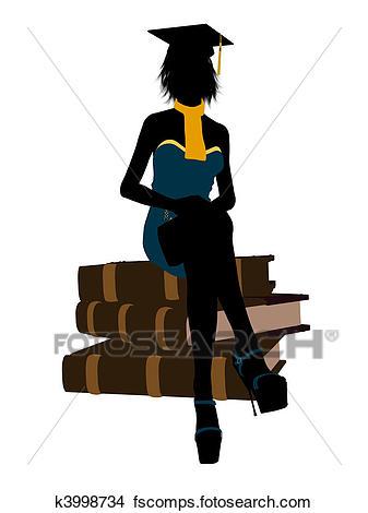 337x470 Drawings Of Female Graduate Illustration Silhouette K3998734